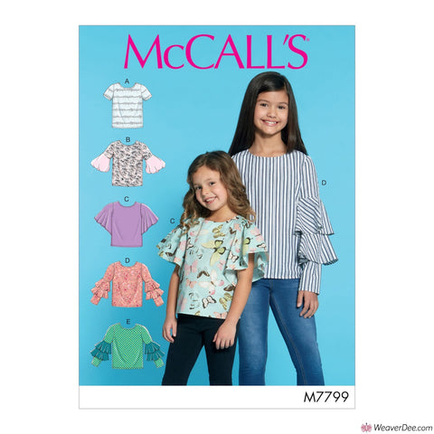 McCall's Pattern M7799 Children's/Girls' Tops