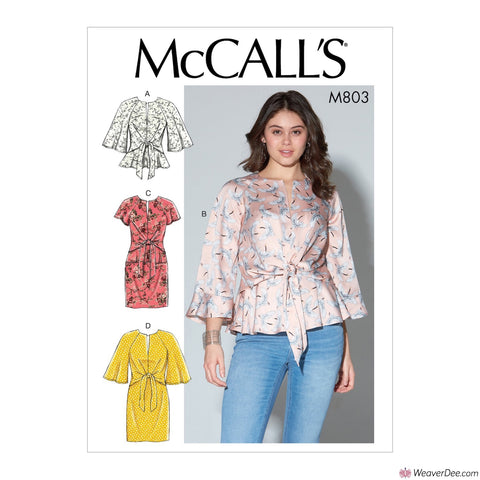 McCall's Pattern M7803 Misses' Tops & Dresses