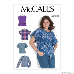 McCall's Pattern M7808 Misses' Tops