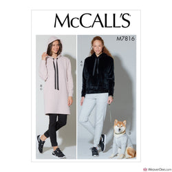 McCall's Pattern M7816 Misses' Top, Dress, Pants & Dog Coat