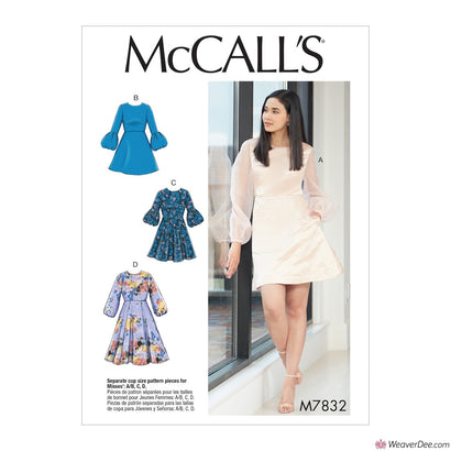 McCall's Pattern M7832  Misses' Dresses