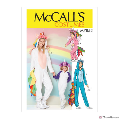McCall's Pattern M7852 Miss/Children's/Girls' Unicorn Costume