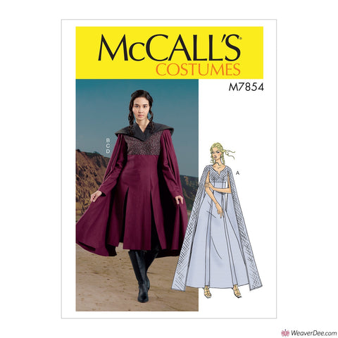 McCall's Pattern M7854 Misses' Capelet Costume