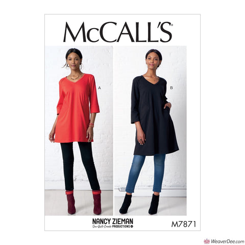McCall's Pattern M7871 Misses' Tunic & Dress