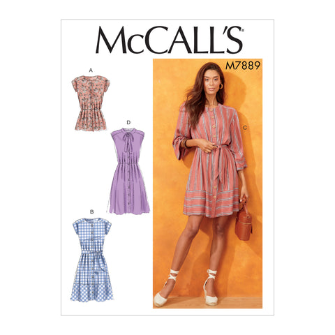 McCall's Pattern M7889 Misses' Tops & Dresses