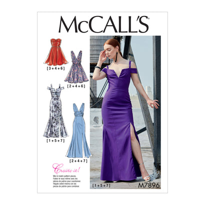 McCall's Pattern M7896 Misses' Dresses