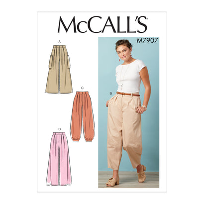 McCall's Pattern M7907 Misses' Trousers
