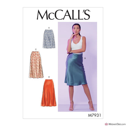 McCall's Pattern M7931 Misses' Skirts