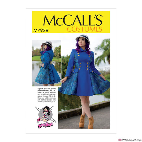 McCall's Pattern M7938 Misses' Cosplay Coat Costume