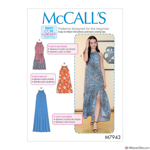 McCall's Pattern M7943 Misses' Dresses
