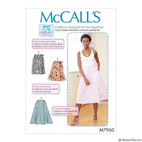 McCall's Pattern M7960 Misses' Skirts