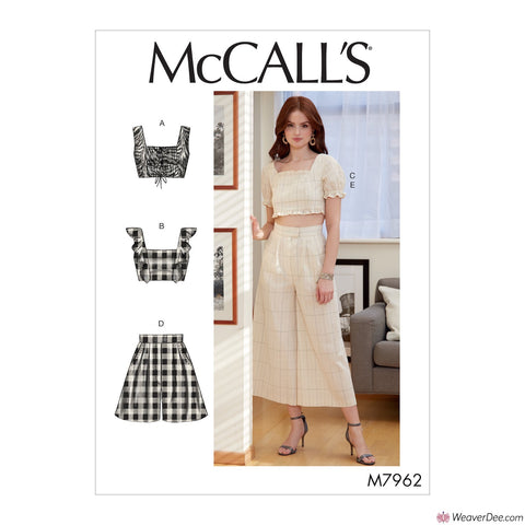 McCall's Pattern M7962 Misses' Tops, Shorts & Trousers