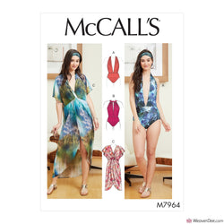 McCall's Pattern M7964 Misses' Swimsuit & Cover-Up