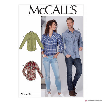 McCall's Pattern M7980 Misses' & Men's Shirts