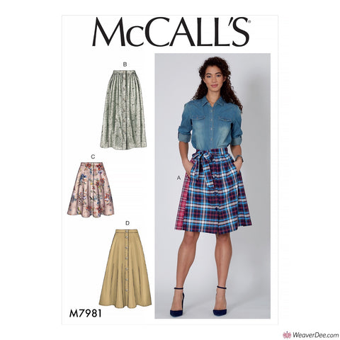 McCall's Pattern M7981 Misses' Skirts
