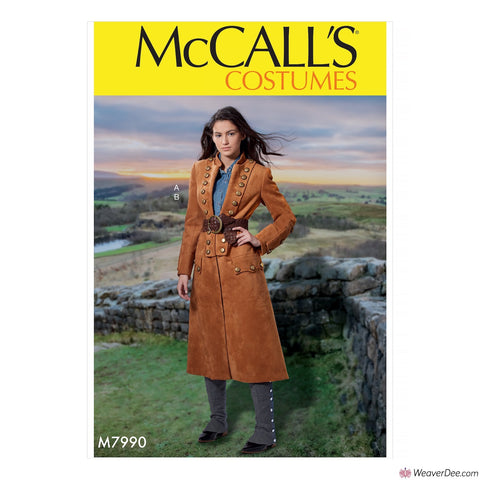 McCall's Pattern M7990 Misses' Outlander Coat Costume + Spats