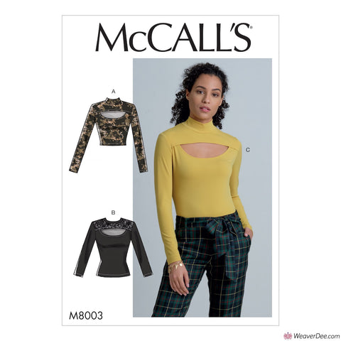 McCall's Pattern M8003 Misses' Tops