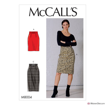 McCall's Pattern M8004 Misses' Skirt & Belt