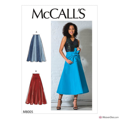 McCall's Pattern M8005 Misses' Skirts