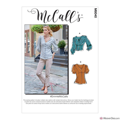 McCall's Pattern M8040 Misses' Tops #EmmieMcCalls