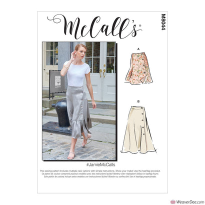 McCall's Pattern M8044 Misses' Skirts #JamieMcCalls