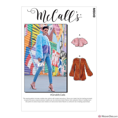 McCall's Pattern M8049 Misses' Jackets / Coats #GinaMcCalls