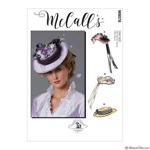 McCall's Pattern M8076 Misses' Victorian Historical Hats