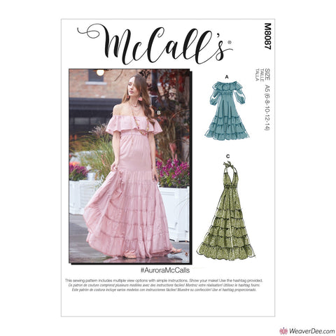 McCall's Pattern M8087 Misses' Dresses #AuroraMcCalls