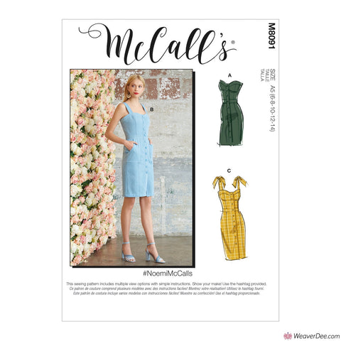 McCall's Pattern M8091 Misses' Dresses #NoemiMcCalls