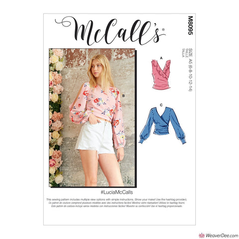 McCall's Pattern M8095 Misses' Tops #LuciaMcCalls