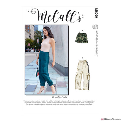 McCall's Pattern M8099 Misses' Shorts & Trousers #LinaMcCalls