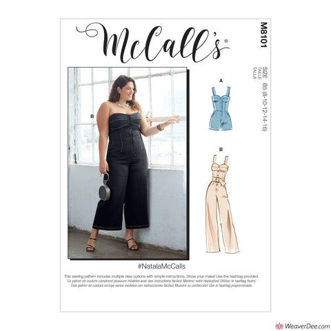 McCall's Pattern M8101 Misses' & Women's Romper, Jumpsuit & Belt #NatalaMcCalls