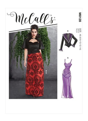 McCall's Pattern M8128 Misses' Gothic Vampire Costumes