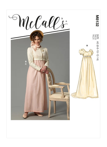 McCall's Pattern M8132 Misses' Victorian Edwardian Steampunk Dress Suit Costume