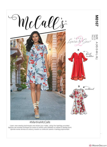 McCall's Pattern M8167 Misses' Dresses #MartinaMcCalls