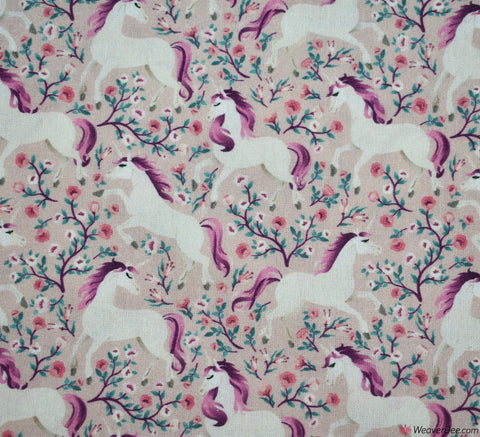 Little Johnny Digital Print Cotton Fabric - Magical Unicorn