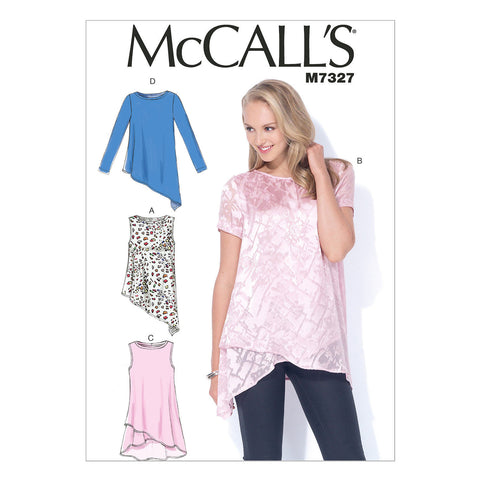 McCall's - M7327 Misses' Shaped Hemline Tops - WeaverDee.com Sewing & Crafts - 1