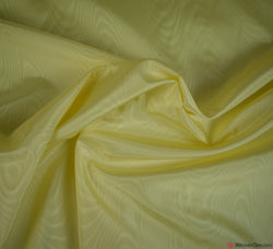 Moiré Taffeta Fabric / Lemon