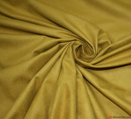 Faux Suede Fabric / Mustard