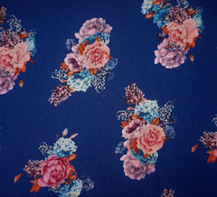 Scented Crinkle Georgette Royal Blue Fabric