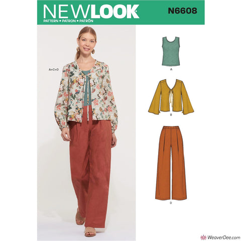 New Look Pattern N6608 Misses' Jacket, Pants & Top