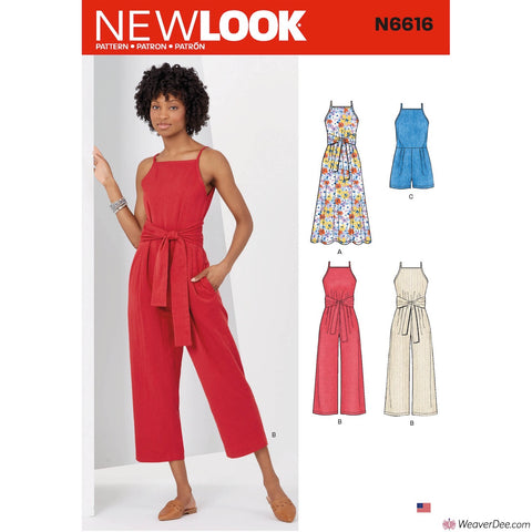 New Look Pattern N6616 Misses' Dress & Jumpsuit