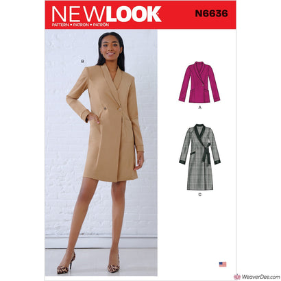 New Look Pattern N6636 Misses' Dresses & Blazer