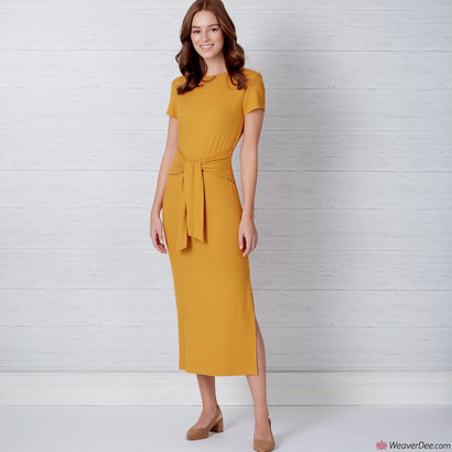 New Look Pattern N6650 Misses' Knit Dress With Sleeve & Length Variations