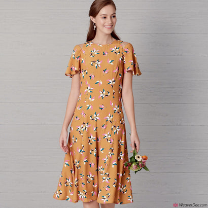 New Look Pattern N6652 Misses' Fit & Flared Dress - Length & Sleeve Variations