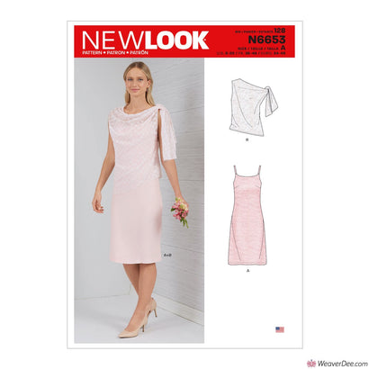 New Look Pattern N6653 Misses' Dress With Shoulder Tie Topper