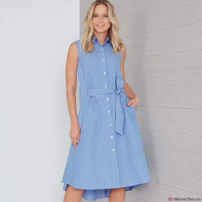 New Look Pattern N6654 Misses' Shirt Dress With Flared Back