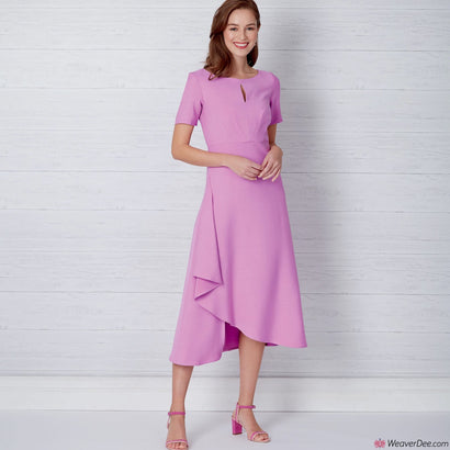 New Look Pattern N6655 Misses' Dress In 2 Lengths With Sleeve Variations