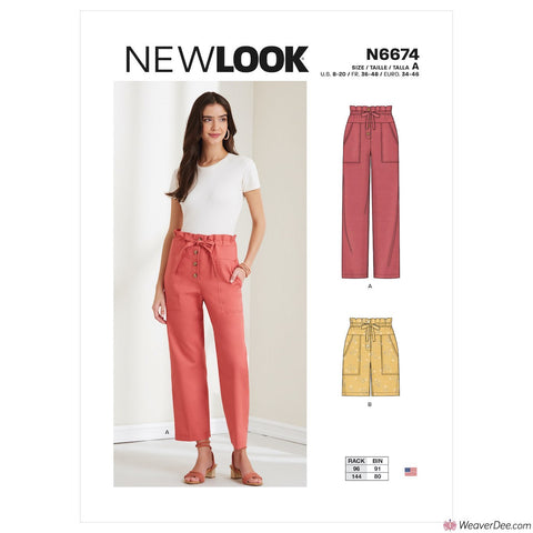 New Look Pattern N6674 Misses' Trousers & Shorts