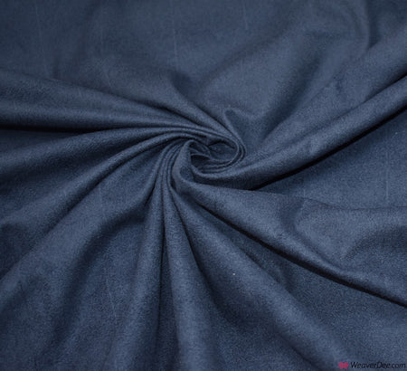 Faux Suede Fabric / Navy Blue